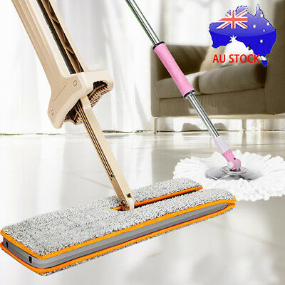 2017 Lazy Hands-Free Double-Side Flat Mop Washable Mop Floor Cleaning Tool Dust
