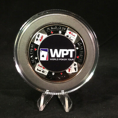 World Poker Tour Large SILVER Card Guard