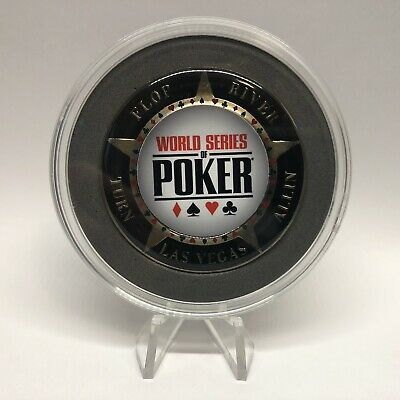 World Series of Poker Large SILVER Card Guard