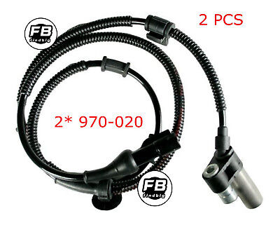 2 pcs Front ABS Sensor & Harness for 93-96 Ford Bronco 970-020 x2 NEW