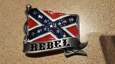 Red and Star Belt Buckle for southern gentleman or REBEL ... Brand new in packet