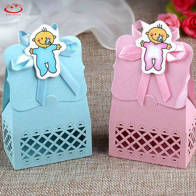 12pcs Laser Cut Sweet Cake Candy Boxes Wedding Party Favors Baby Shower Gift Bag