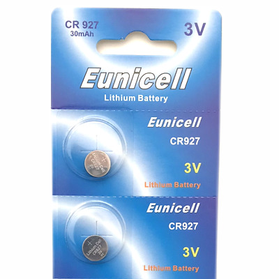 2 x EUNICELL CR927, DL927, ECR927, BR927, 3v LITHIUM BUTTON/COIN BATTERY