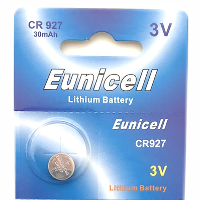 1 x EUNICELL CR927, DL927, ECR927, BR927, 3v LITHIUM BUTTON/COIN BATTERY