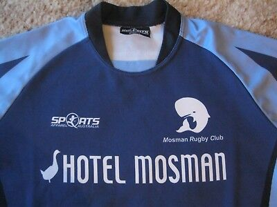 Mosman Sydney Rugby Players Issue Sponsored Rugby Union Training Shirt (Large)