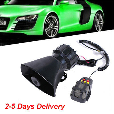 12V Car Truck Alarm 5 Sound Loud Horn Siren Police Ambulance Warning Loudspeaker