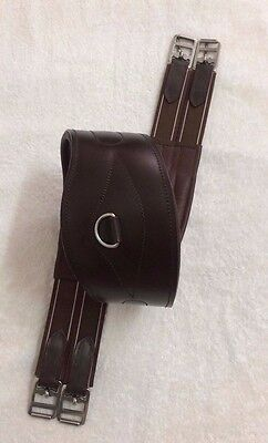 Long Leather Padded Comfort Contour Girth Elasticated Ss Fittings Brown All Size