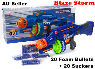 Nerf Style Gun Blaze Storm Kids Toy Soft Dart Machine Bullet Battle Battery AU