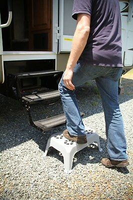 Plastic Step Chair Stool Durable Portable Large RV Trailer Non Slipping Home NEW