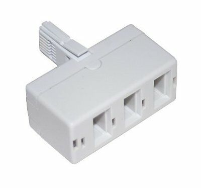 3 Way Triple BT Phone Telephone Splitter Adaptor
