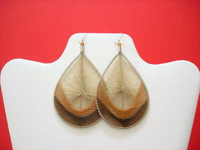 Thread Earrings Peruvian Assorted colors Large Size