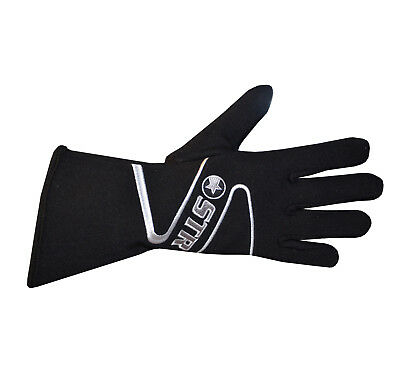 STR Edition 3 Race Gloves - SFI Approved 3.3/5 - Fire Retardant - Adults - Black