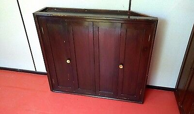 Unusual Antique Pine Corner Bookcase Cupboard Adjustable Shelves