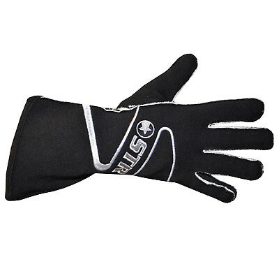 STR Edition 4 Race Gloves - SFI Approved 3.3/5 - Fire Retardant - Adults - Black