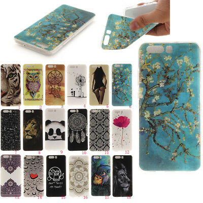 Huawei P10/P10 lite Honor 6x Series Pattern Painting Soft TPU Silicone Case NEW