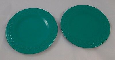 """Fisher Price GREEN Apple Checkered PLATE Toy 4.5"""" 1998"""