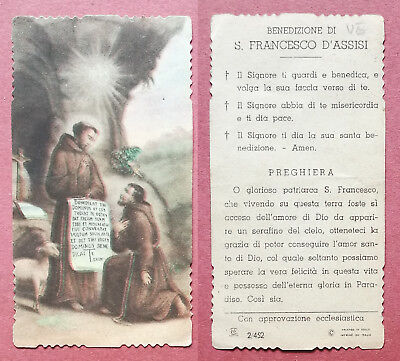 Santino Holy Card: S. San Francesco d'Assisi - Ed. EB 2/452