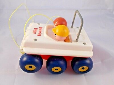Fisher Price Bouncing Buggy Car w/ String Pull Toy Vintage 1973