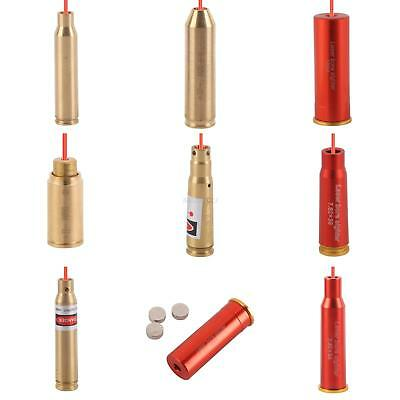 For Hunting Scope Red Dot Laser w/Battery Brass Cartridge Bore Sighter Boresight