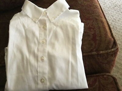 Girls Lands End White Oxford shirt size 10