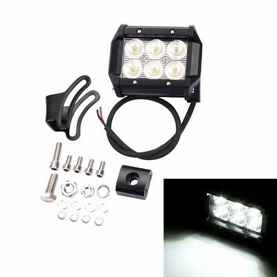 2x 18W 4 Inch Cree Led Work Flood Light Bar Offroad Driving Lamp Truck 4WD