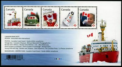 ma. CANADIAN PRIDE, Ship, flag, Souvenir Sheet of 5 stamps CANADA 2012 #2498 MNH