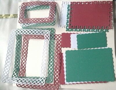 Die Cut Fancy Frames/tags/rectangles Christmas Card Toppers