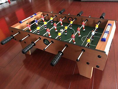 NEW Tabletop Classic Foosball Wood Table Soccer Game Portable Mini
