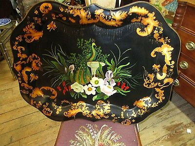 Antique Hand Painted Tole Tray