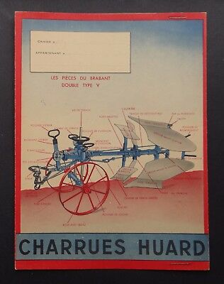 Protège cahier CHARRUES HUARD Brabant Chateaubriand tracteur tractor Traktor