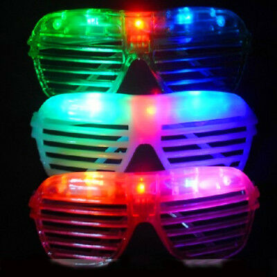 5x LED Shutter Shades - Glow in the Dark Flashing Blue Red Pink Purple White