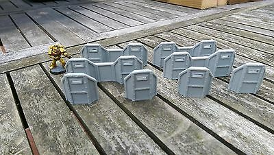 *SCENERY* 8 barricades 40K Necromunda Malifaux Bolt Action Warhammer Shadow War