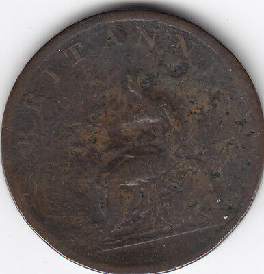 1807 Great Britain 1/2 Penny Coin V G