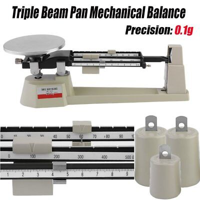 Triple Beam Mechanical Balance Scale 0.1g Weight Lab Business Home MB-2610 TO