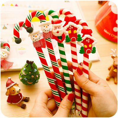 20pcs Christmas Santa Claus Ballpoint Pen Office Student Gift Supplies Random UK