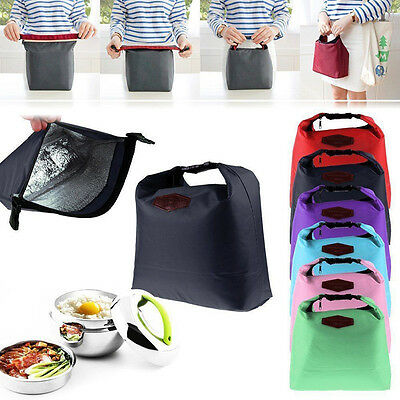 Waterproof Thermal Cooler Insulated Lunch Box Portable Tote Storage Picnic Bag