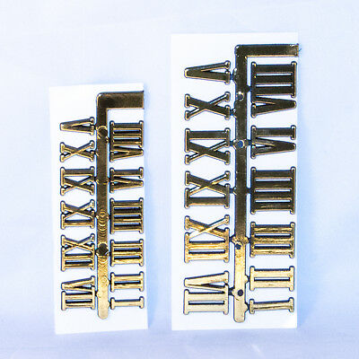 Diy Clock Stick On Numbers Kit Gold Roman Numerals  2 Sizes Free Postage