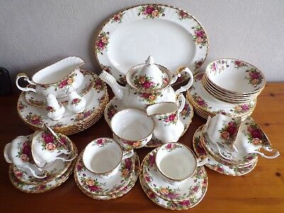 Royal Albert, England - Old Country Roses - Tee- und Essservice - 1962 - 45tlg