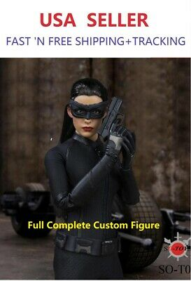 """CUSTOM MADE 1/6 Scale Catwoman FULL 12"""" hot figure toys Anne hathaway"""