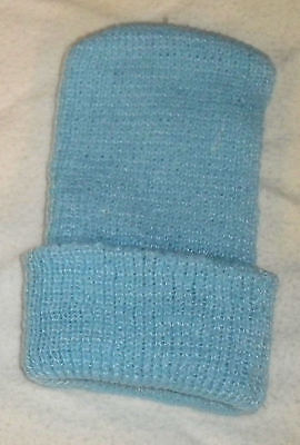 38 Acrylic Knit Hospital Preemie Hat Blue Baby Boy Made In Usa Clearance