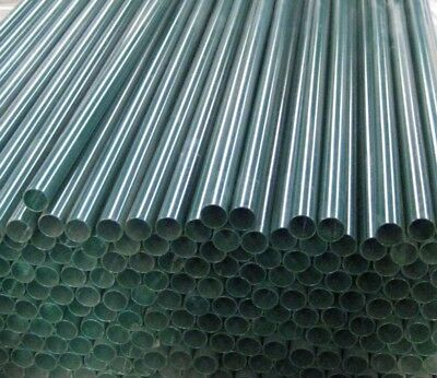"""Black Powder Coated Fence Pipe    1.900"""" OD   .145"""" Wall    24' lengths"""