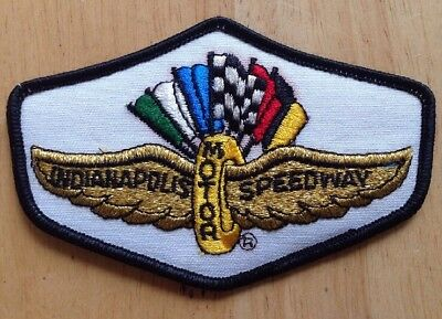 1970s 1980s INDIANAPOLIS MOTOR SPEEDWAY EMBROIDERED PATCH, VINTAGE