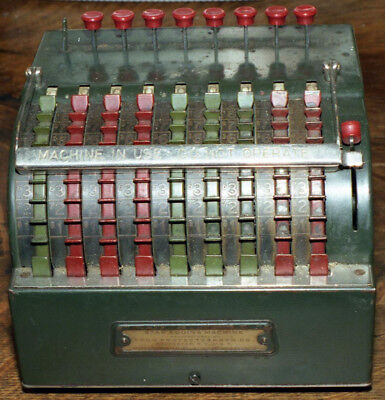 Vintage Star adding Machine  The Todd Protectograph Company