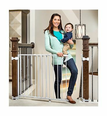 Regalo Top Of Stairs Expandable Metal Gate With Mounting Kit New