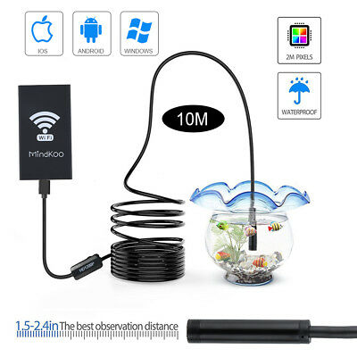 1200P Endoscope 10M 8LED WiFi Borescope Inspection HD Camera for Samsung Iphone