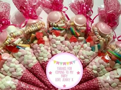 Large Party Bag Pre Filled Sweet Cones -  Free Personalised Stickers