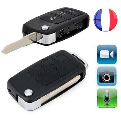 Cle De Voiture Camaescope Camera Cachee Espion Video Hd Detecteur De Mouvement