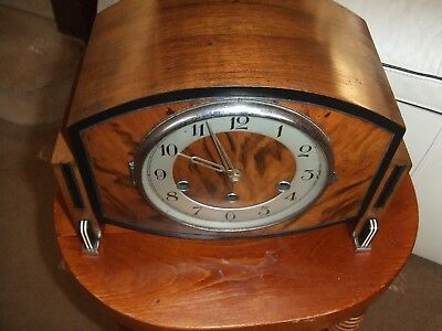 Vintage ,Schlenker & Kienzle  German Westminster chime Mantel  Clock Art Deco