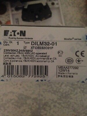 EATON DILM32-01  Contactor,15kW/400V,AC-operated, DILM32-01(230V50HZ,240V60HZ)
