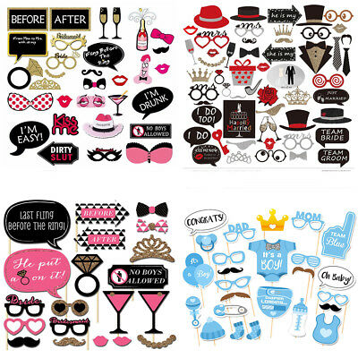 UK Party Props Photo Booth Moustache Birthday Engagement Wedding Funny 14 Styles